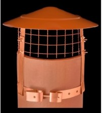 "Anti Bird  / Anti Rain Chimney Cowl Terracotta 8/9"" UK"