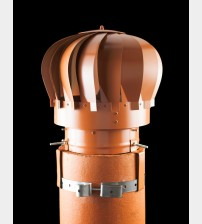 "Spinner Anti Down Draught Chimney Cowl Terracotta 8/9"" UK"