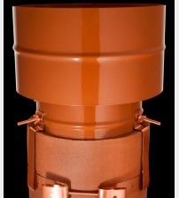 "Static Anti Down Draught Chimney Cowl Terracotta 8/9"" UK"