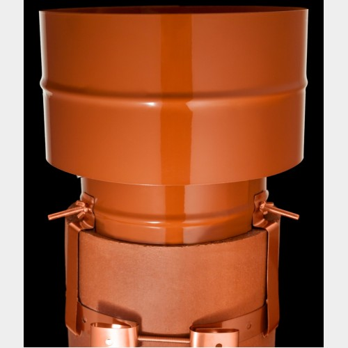 Static Anti Downdraught Cowl Terracotta Only 163 51 95 163 5
